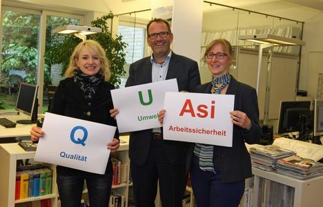 Suse Michel, Uwe Berndt und Beatrice Maisch (v.l.n.r) nach der erfolgreichen Rezertifizierung