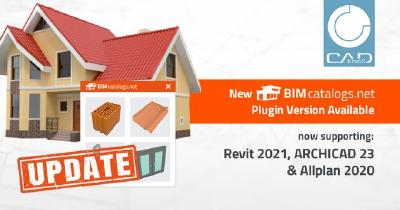 Updated BIMcatalogs.net plugin powered by CADENAS: BIM objects directly available in Revit 2021, ARCHICAD 23 & Allplan 2020