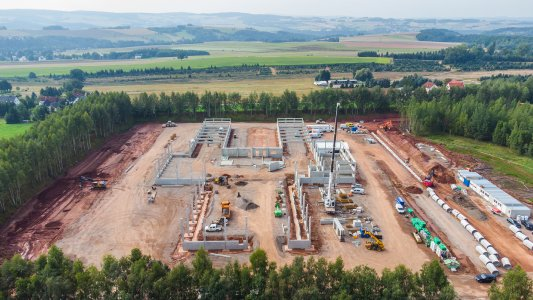 Aerial view of the Wildenfels site (Photo: trans-o-flex)