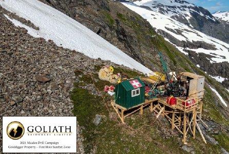 Bohrung auf der Surebet-Zone; Quelle: Goliath Resouces