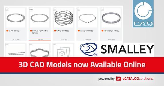 Smalley lancia una nuova serie di molle con il configuratore di prodotto online powered by CADENAS