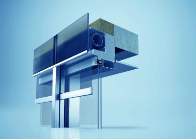 Solution entièrement intégrée comprenant le système de façade heroal C 50 et le système de protection solaire heroal VS Z / © heroal
