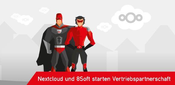 Nextcloud und 8Soft starten Vertriebspartnerschaft