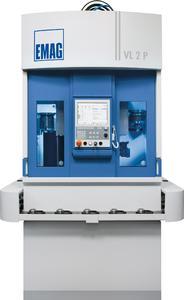 Die VL 2 P ist eine zweispindlige Pendeldrehmaschine für die Komplettbearbeitung von Futterteilen in zwei Aufspannungen