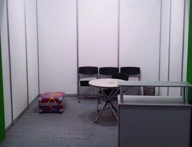 Cleared exhibition stand