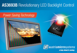austriamicrosystems introduces new energy saving LED controller IC enabling low power dissipation for slimmest LCD TVs