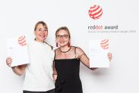 The Kurz designers Annie Kuschel and Julia König receiving their Red Dot Award, Photo: Red Dot