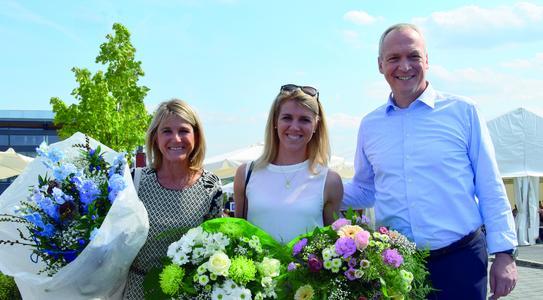 Institutsleiter Prof. Dr. Stefan Mecheels, seine Frau Patrizia und Tochter Julia freuten sich über mehr als 4500 Besucher. ©Hohenstein Institute