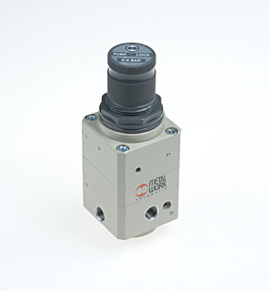 Precision high-relief flow pressure regulator