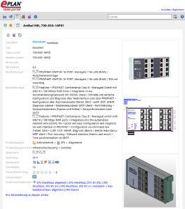 Auch Helmholz gehört zu den neuen Anbietern im Portal – mit Data Sets für Profinet-Switches.Foto: Eplan Software & Service GmbH & Co. KG
