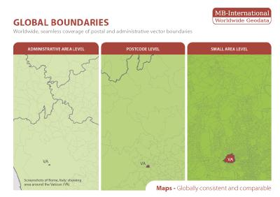 Global Updates: Postcode Boundary Maps and Administrative Area Maps