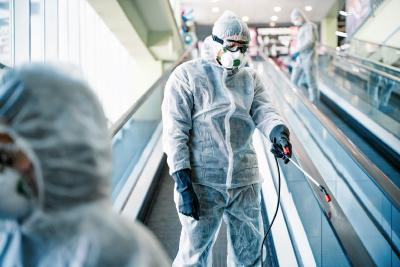 Disinfection and cleaning at the airport