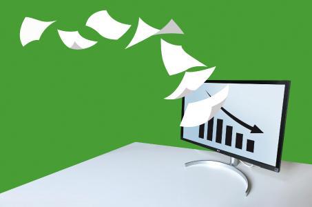 Aktenbergen durch digitalen Dokumentenaustausch vermeiden / Bild: HERZIG Marketing / stock.adobe.com