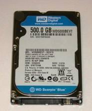 Western Digital bringt Standard Notebook-Festplatten mit 500 GB auf den Markt