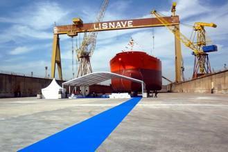 In der Werft von Lisnave: Losberger uniflex Arcum mit einem Maß von 25 x 20 Metern