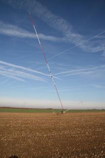 Ge:Net-Mast beim Aufbau
