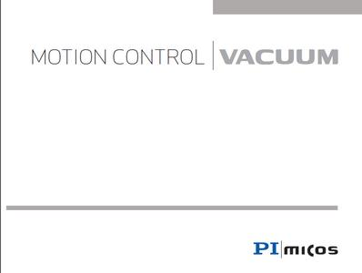 New PI miCos catalog on vacuum products