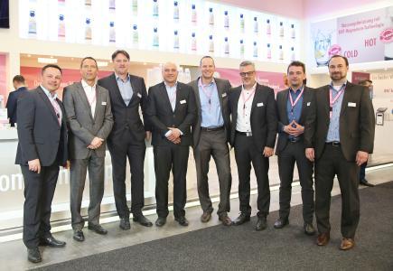 Das Team von BWT water+more auf der Internorga 2017 in der Messe Hamburg  /Foto: BWT water+more