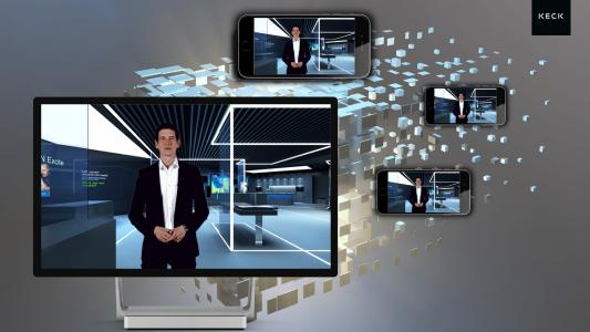 The virtual event from KECK: Digital brand room and live streaming