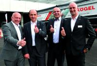v. l. n. r.: Die aktuellen Kögel Geschäftsführer: Josef Warmeling, Thomas Eschey, Thomas Heckel und Massimo Dodoni