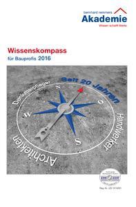 Der Wissenskompass 2016 bietet bundesweit 25 Seminare an mehr als 115 Terminen im Zeitraum zwischen Januar und Dezember / Bildquelle: Bernhard-Remmers-Akademie, Löningen