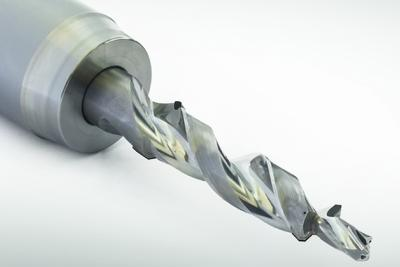 75% faster with spiral-fluted PCD step drill