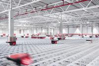 Foto aus dem Logistikzentrum der Bergfreunde GmbH in Rottenburg-Ergenzingen