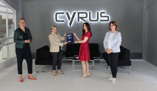 Innovationspreis RHEINLAND GENIAL für Cyrus Technology
