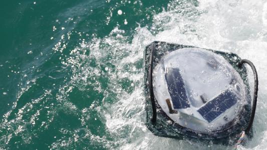 Solarbojen ermöglichen eine Echtzeit-Warnung, sobald ein Hai gefangen wurde.