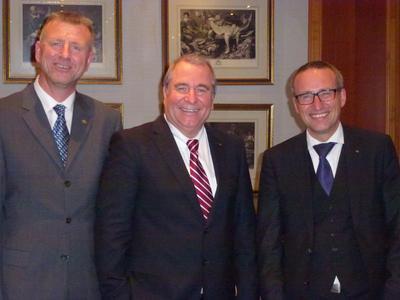 Geschäftsführer CiS ELECTRONIC GmbH - v.l.n.r.: Ralf Kühn, Peter M. Wöllner, Andreas Cellar