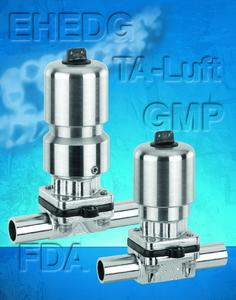 Aseptic diaphragm valve range extended to small nominal sizes