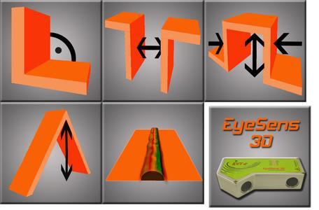 EyeSens 3D commands and sensor