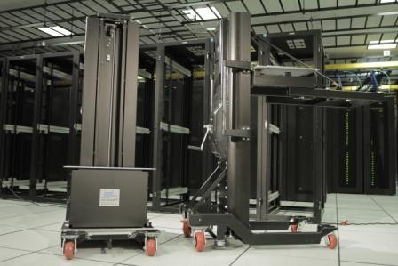 The ServerLift solutions are capable of moving up to 227 kilograms of IT equipment to any location within the Data Centre.
