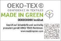 MADE IN GREEN by OEKO-TEX® ist ein nachverfolgbares Verbraucherlabel für nachhaltige Textilien. Jedes mit Label ausgelobte Textilprodukt verfügt über eine eindeutige Produkt-ID und/oder einen QR-Code, die es erlauben, die Herstellung des Artikels zurückzuverfolgen. Jede Produkt-ID macht die unterschiedlichen Produktionsstufen sowie die Länder sichtbar, in denen die Textilien produziert wurden. © OEKO-TEX®