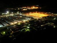Die Veladero-Mine bei Nacht; Foto: Barrick Gold