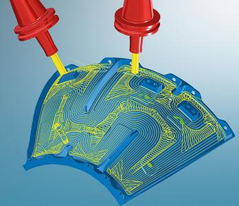 hyperMAXX®, high performance cutting for 2D, 3D and 5 Axis of OPEN MIND (Image source: OPEN MIND)