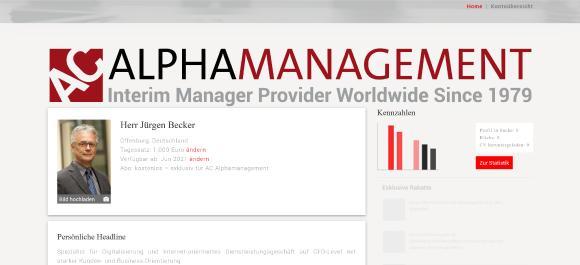 Der Alpha Management Pool® @ Unitedinterim® GmbH