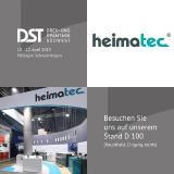 heimatec ist bei den Dreh- und Spantagen 2019 am Stand D 100 präsent