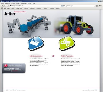 Jetter relaunch webseite 2010