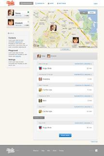 Kinderphone 'parent dashboard' for easy kin collaboration
