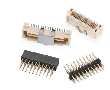 Für die SMT-Bestückung und die Hitze des Reflow-Lötofens geeignet: Board-to-Board-Verbindungen WR-BTB, Bildquelle: Würth Elektronik eiSos