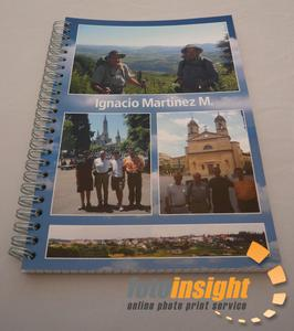 Spiral note pad with photos