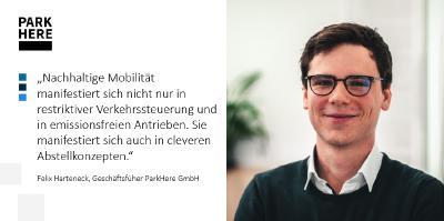Felix Harteneck, CEO der ParkHere GmbH