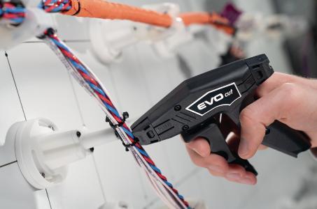 Das EVO cut ist ein professionelles Schneidwerkzeug zum sicheren Entfernen von Kunststoffkabelbindern aus Kabelkonfektionen