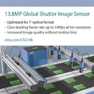 ams enables factory productivity and quality with launch of new family of high-speed industrial image sensors