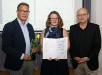 Caroline Berlage, a student at PicoQuant, wins Physik-Studienpreis  by the Physikalische Gesellschaft zu Berlin