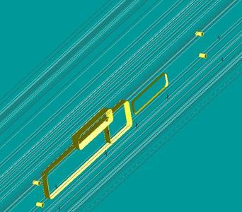 Die vom 3D-Konverter erkannten Bearbeitungen aus Bild 2. Auch Bearbeitungen auf unterschiedlichen Ebenen wie hier beim elektronischen Türöffner werden erkannt