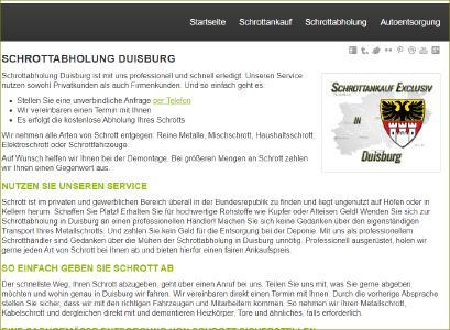 Schrottabholung Duisburg