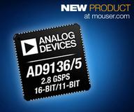 Analog Devices AD9135/6 2.8Gsps DACs Available from Mouser Electronics