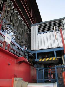 Das Local Position Radar (LPR®) von Symeo auf einem Kran im österreichischen Stahlwerk voestalpine in Linz im Einsatz, Bild: voestalpine Stahl